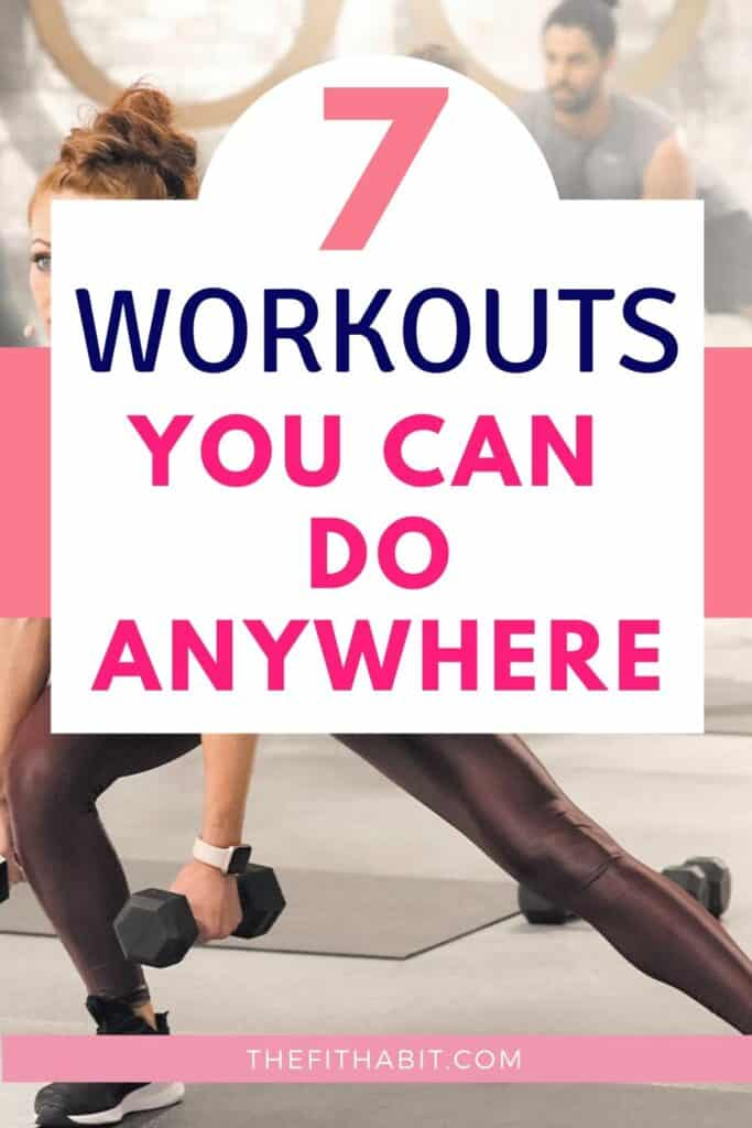 workouts that you can do from home!! 7 full length videos to keep you on your toes and guide you through the whole workout.