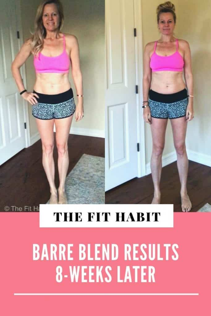 Barre Blend Before and after | At home workout program for legs, butt and abs