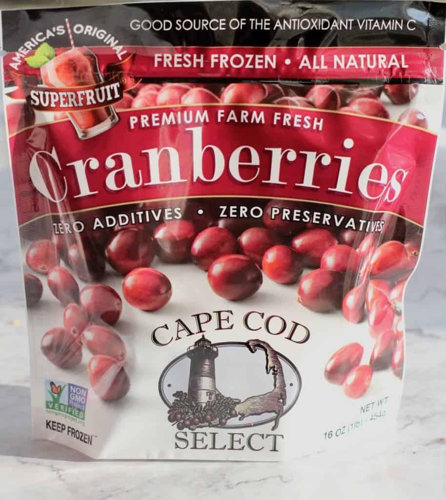 cranberries for cranberry orange muffin recipe