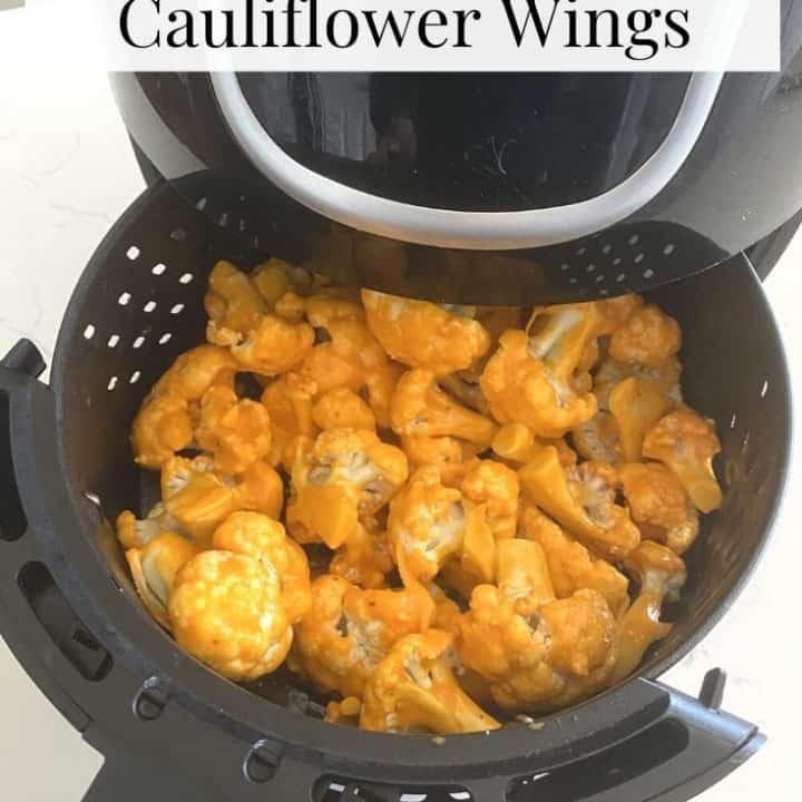 buffalo cauliflower wings in an airfryer