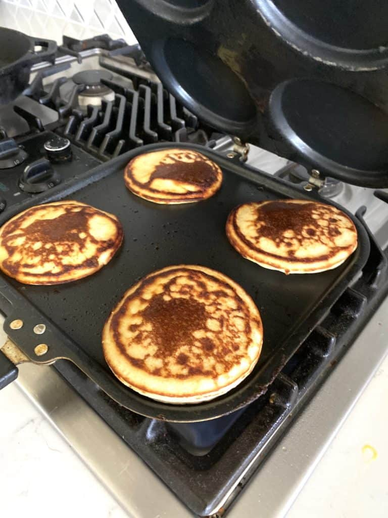 the best protein pancakes being cooked.