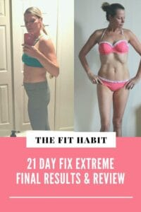 21 day fix extreme results - before and after shot