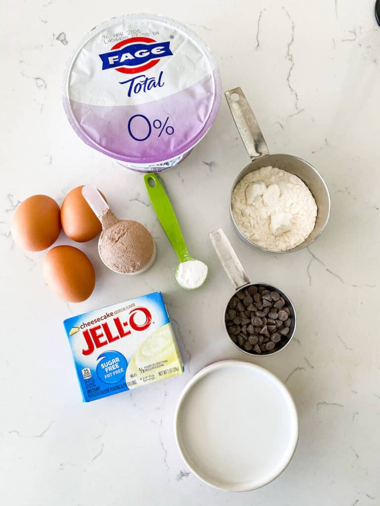 Protein Chocolate Chip Muffin Ingredients