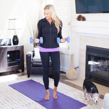 woman doing 21 day fix extreme