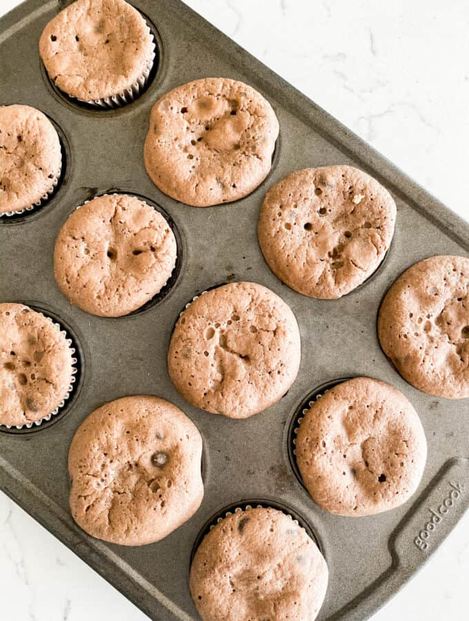 protein chocolate chip muffins baked and ready to eat!