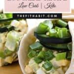 egg salad recipe in a low carb tortilla