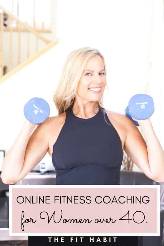 woman over 40 online fitness coaching