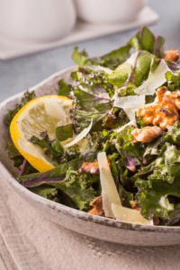 bowl of lemon kale salad