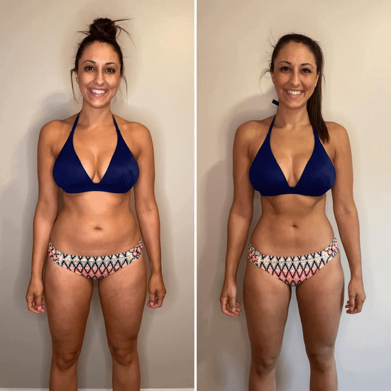 muscle burns fat before and after