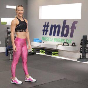 megan Davis, muscle burns fat trainer