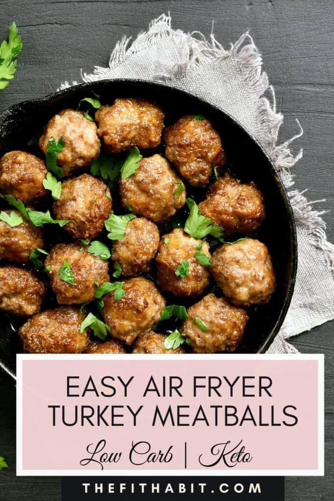 easy turkey meatballs in a pan