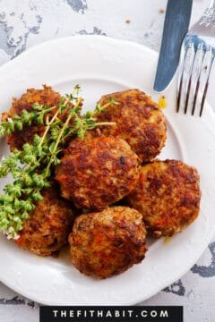 bowl of thai curry meatballs