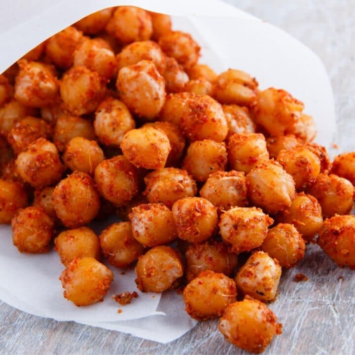 crispy chickpeas in a wrapper