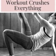 9 week workout program - woman working out at home