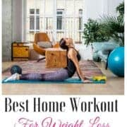 woman doing beachbody workout in her living room