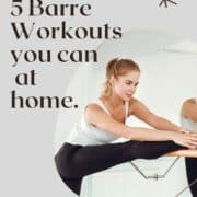 woman doing barre workout at home