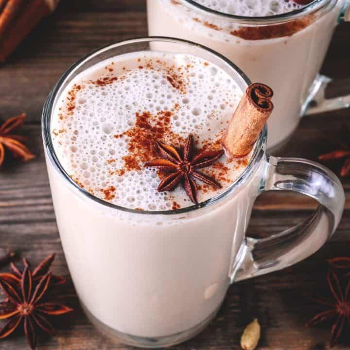 vanilla cinnamon tea latte