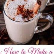 cinnamon tea latte
