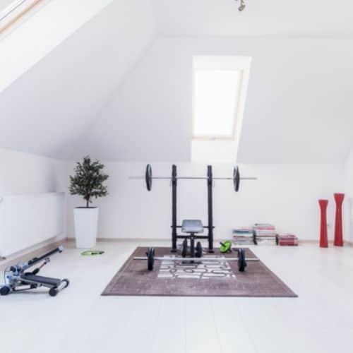 white home gym