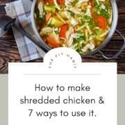 shredded chicken soup