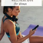 woman with fitness app