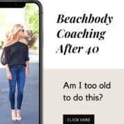 woman beachbody coaching over 40