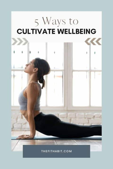 woman practicing wellbeing