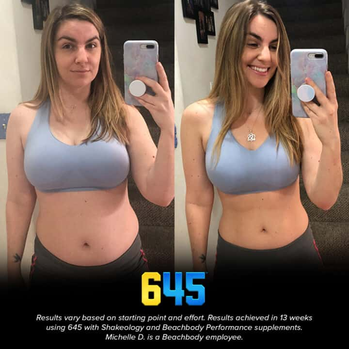 before and after photo Beachbody 645