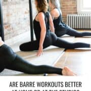 women doing barre at home