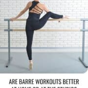woman doing barre at home