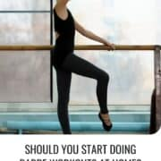 woman doing barre workout