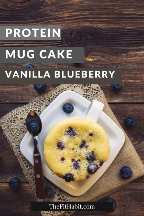 vanilla protein mug cake