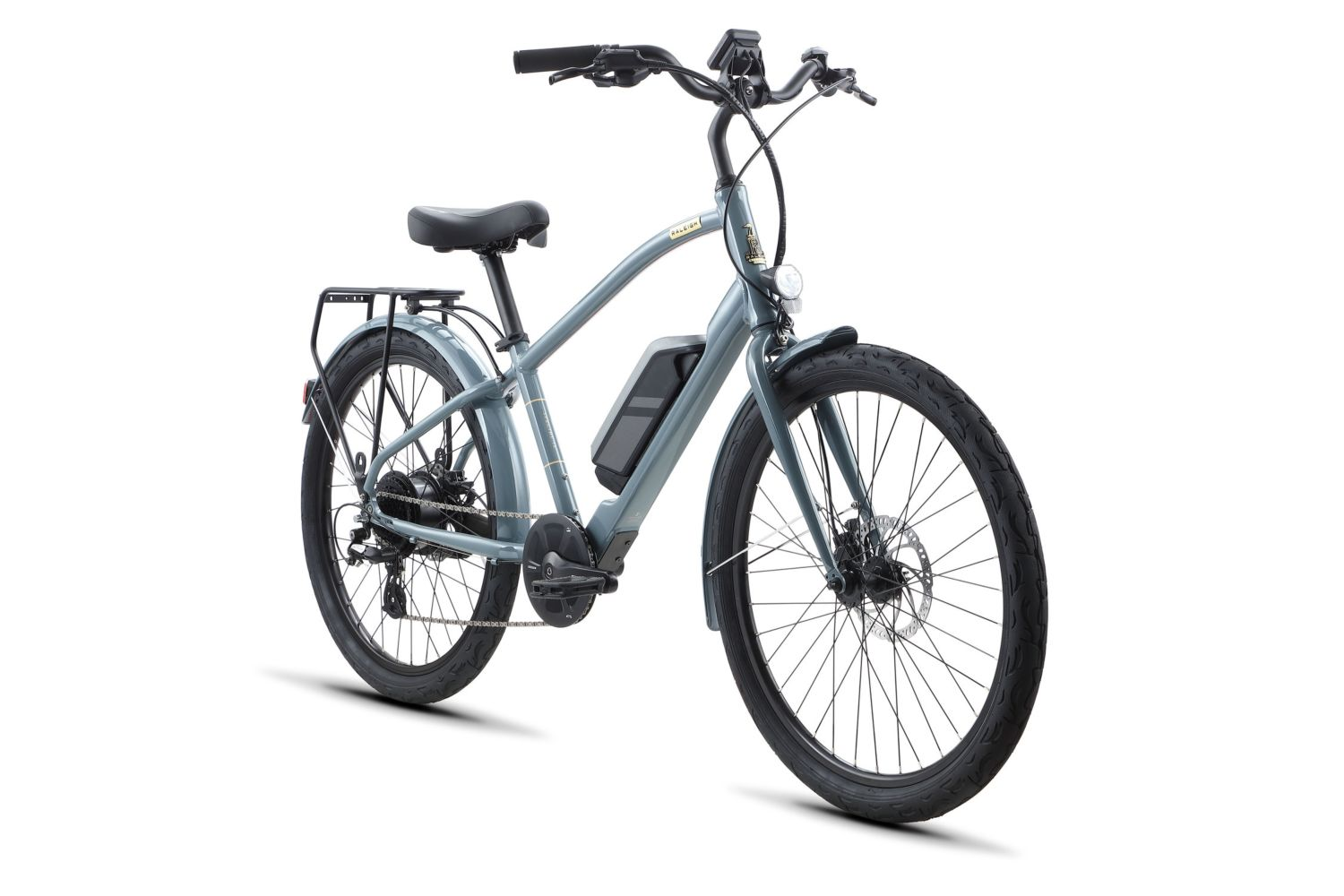 Raleigh Special Ie High Step Electric Bike In Grey