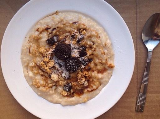 porridge oréos