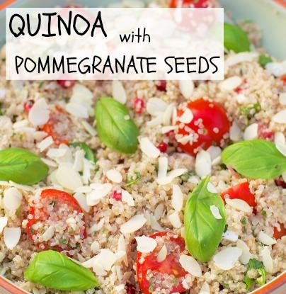 Quinoa with Pomegranate Seeds