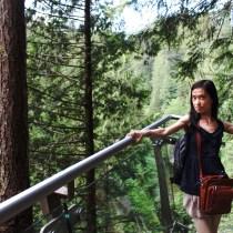 Vancouver, nature, selfie, railing