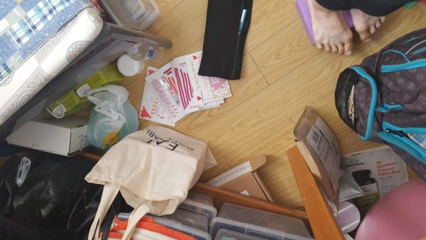 groceries, cluttered