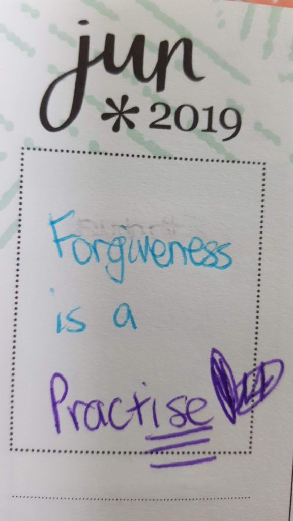 forgiveness is a practice mantra