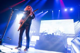 Dave Mustaine performs with Megadeth at the Matthew Knight Arena in Eugene, OR. Photo by Keith Lancaster.