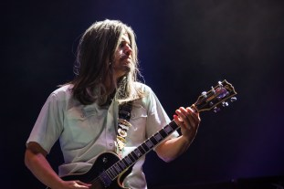Adam Jones of Tool performs at SAP Center in San Jose. Photo by Clay Lancaster.