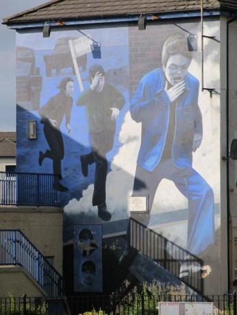 "Derry - ""The runner"" by Bogside Artist"