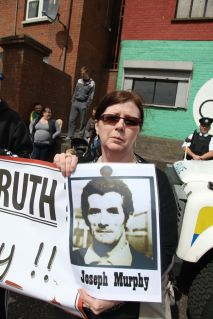 Ballymurphy families protest against royal visit