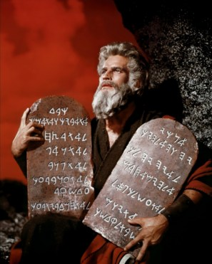 Moses, who received the summary of the Law known as the Ten Commandments