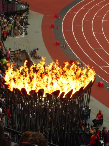 The giant Olympic Flame