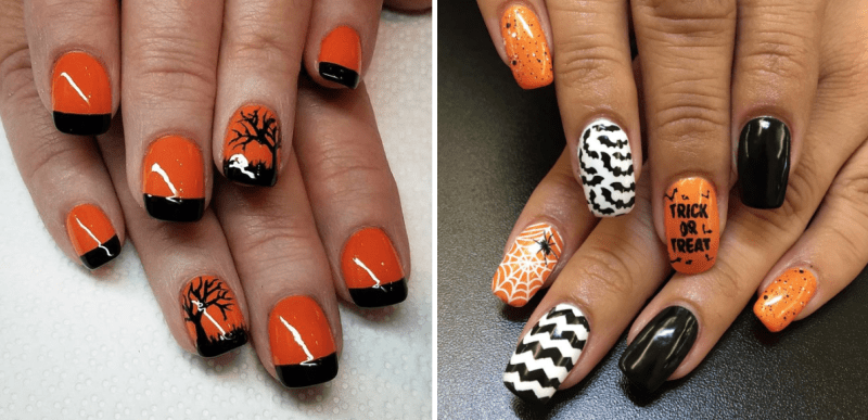 halloween nail art inspired