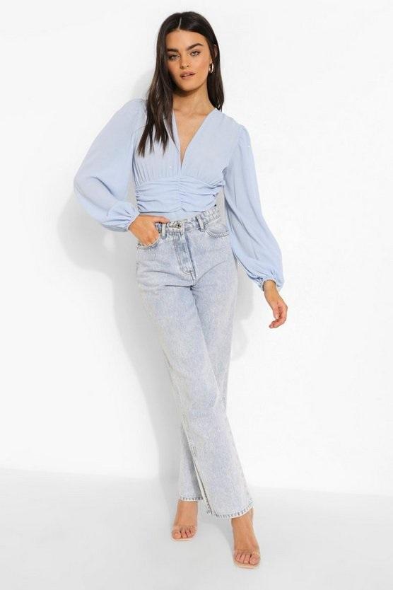 bodysuit and straight leg jeans for bottomless brunch.
