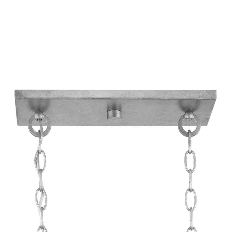 progress lighting bradberry 5 light antique white and galvanized transitional chandelier p400219 141 open box