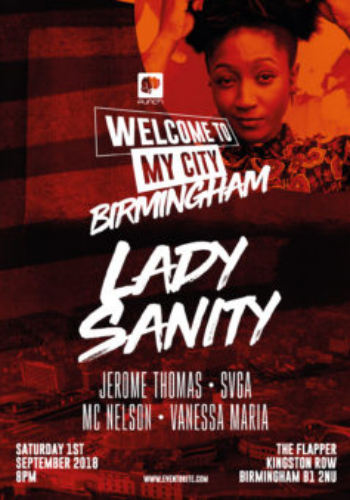 Welcome To My City presents: Lady Sanity