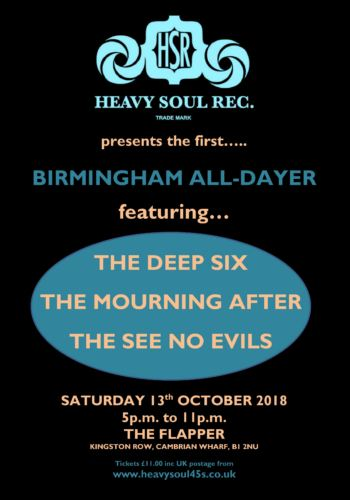 Heavy Soul ! Records Birmingham all-dayer