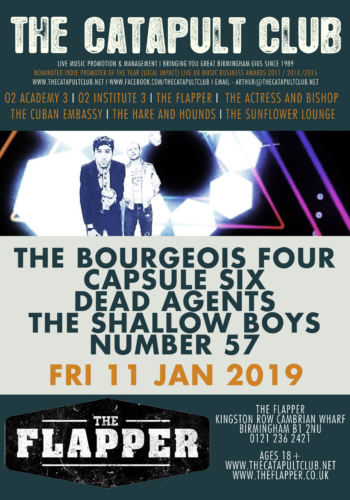 The Bourgeois Four + Capsule Six + Dead Agents + The Shallow Boys + Number 57